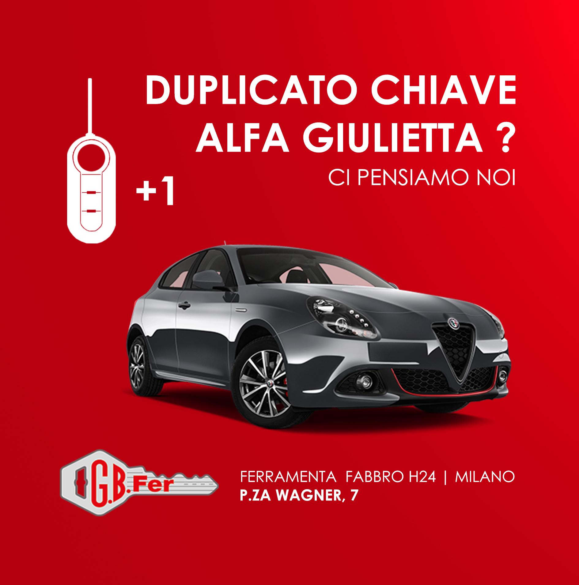 Duplicazione Chiave Alfa Romeo Giulietta A Milano